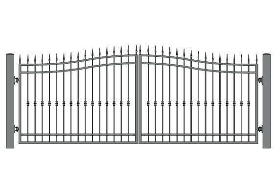 brama dwuskrzydłowa - wzór