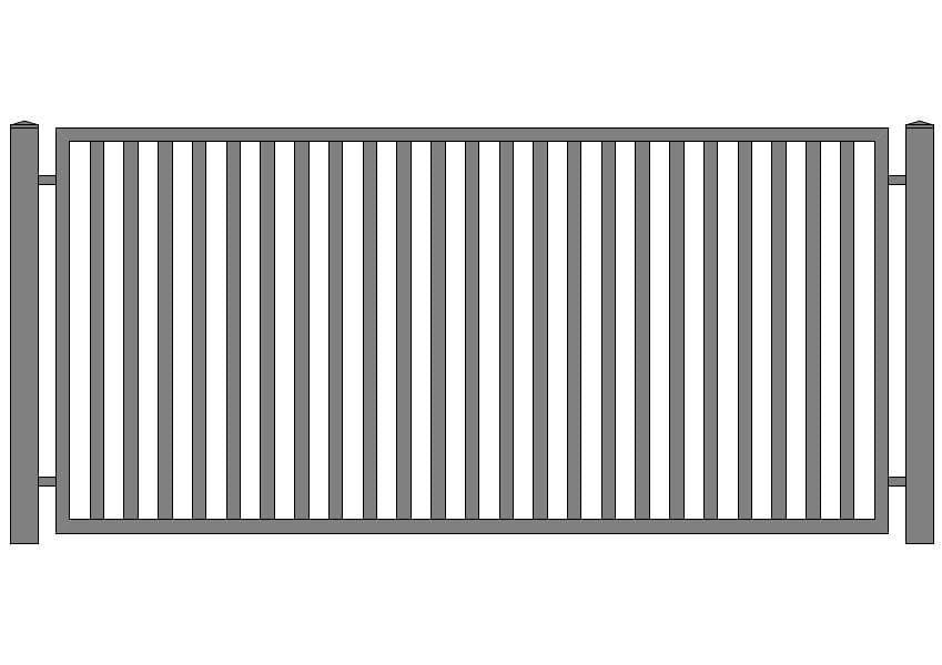 wzór ogrodzeń klasycznych K-1