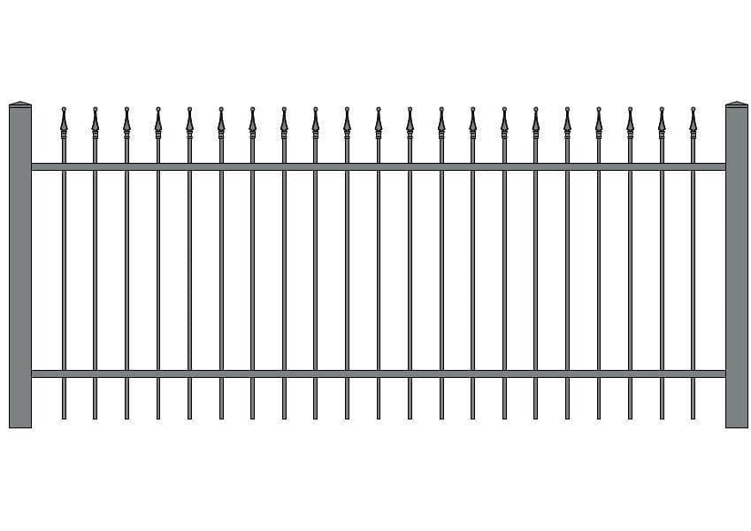 wzór ogrodzeń klasycznych K-10
