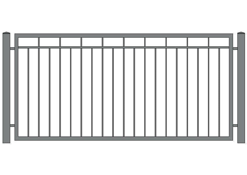 wzór ogrodzeń klasycznych K-11