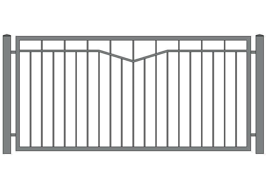 wzór ogrodzeń klasycznych K-12