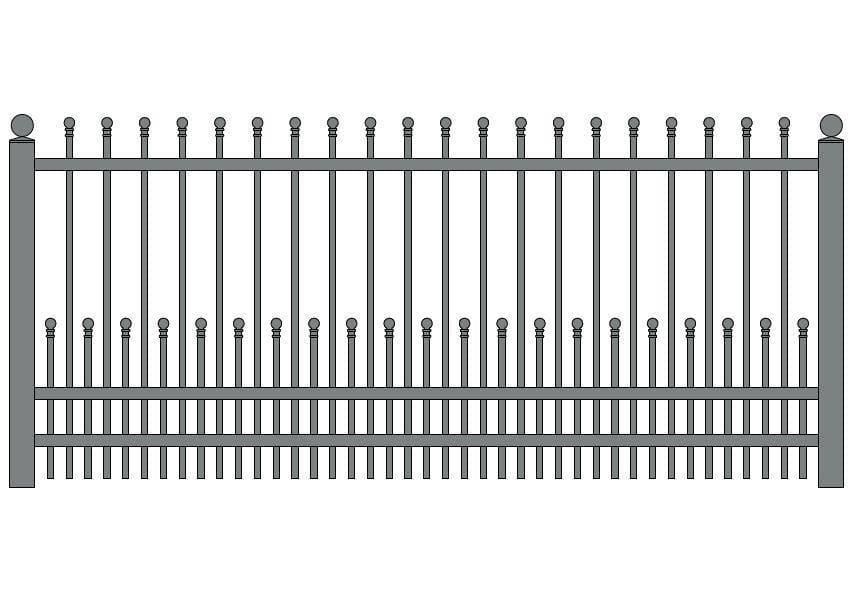wzór ogrodzeń klasycznych K-13