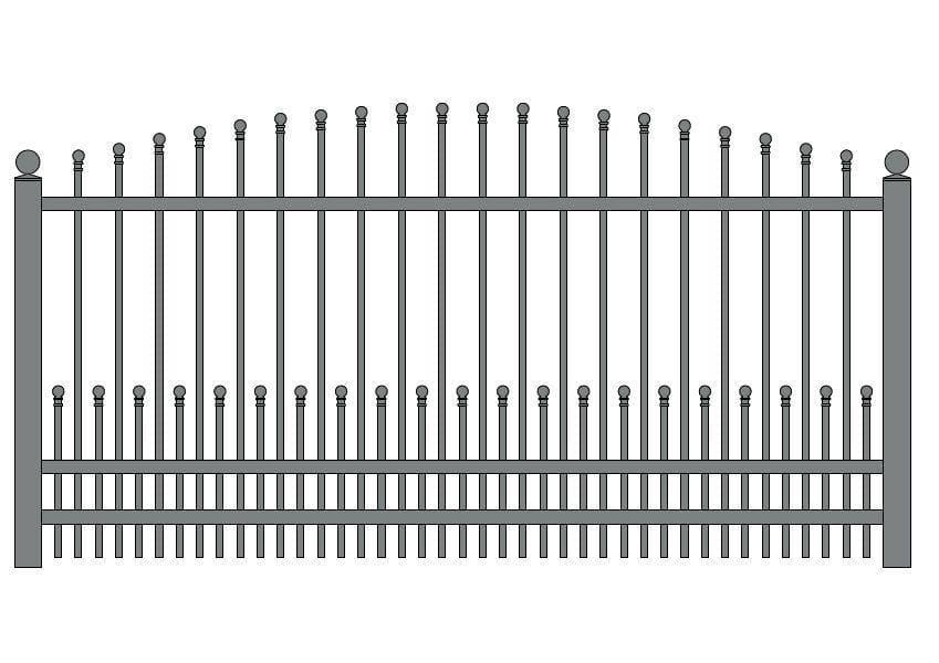 wzór ogrodzeń klasycznych K-14