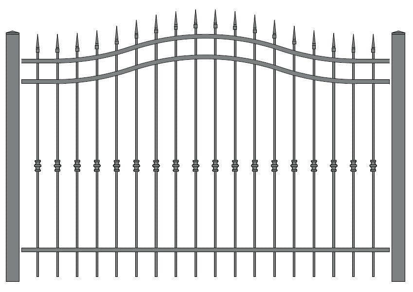 wzór ogrodzeń klasycznych K-16