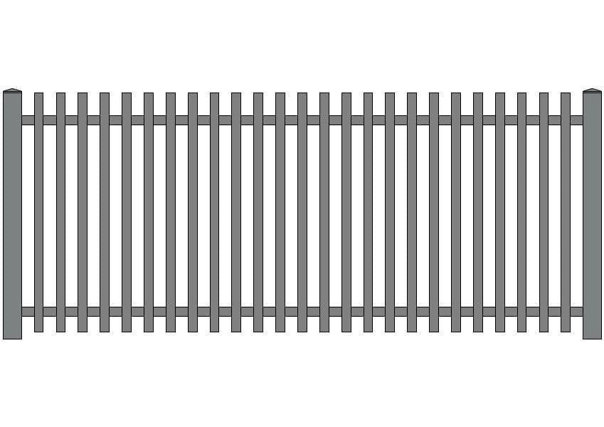 wzór ogrodzeń klasycznych K-2
