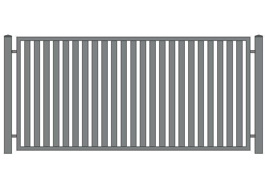 wzór ogrodzeń klasycznych K-3