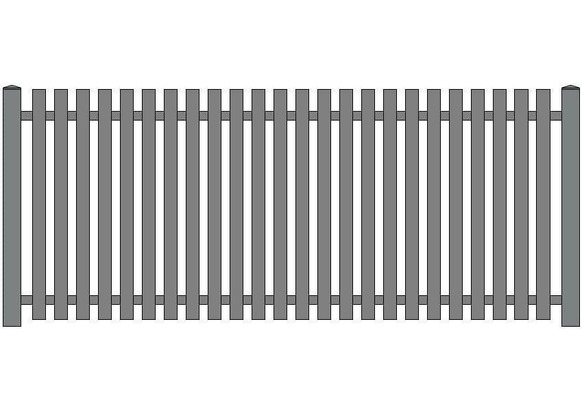 wzór ogrodzeń klasycznych K-4