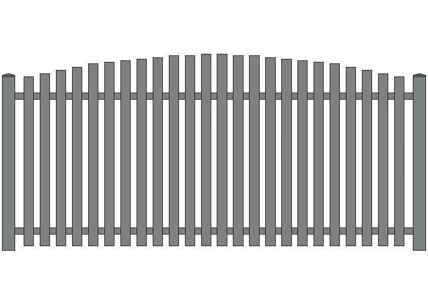 wzór ogrodzeń klasycznych K-5