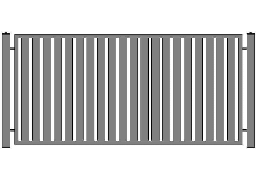 wzór ogrodzeń klasycznych K-6
