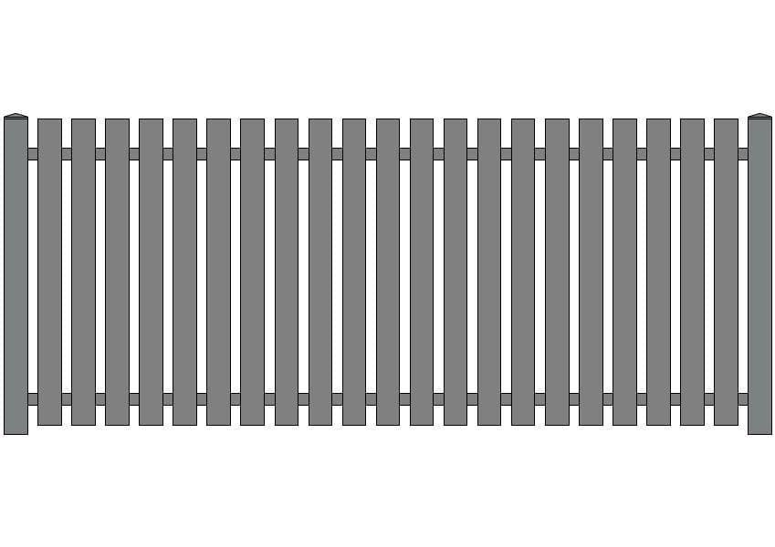 wzór ogrodzeń klasycznych K-7
