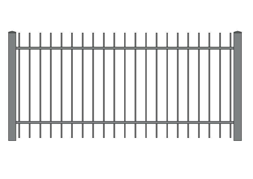 wzór ogrodzeń klasycznych K-8