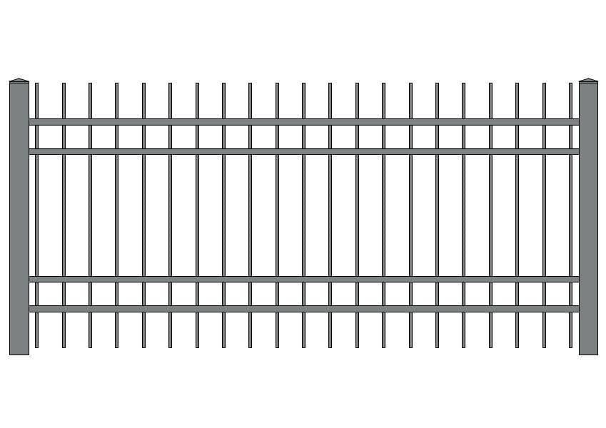 wzór ogrodzeń klasycznych K-9