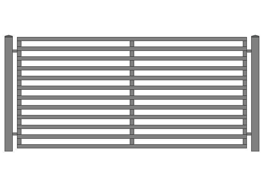 wzór ogrodzeń nowoczesnych N-1