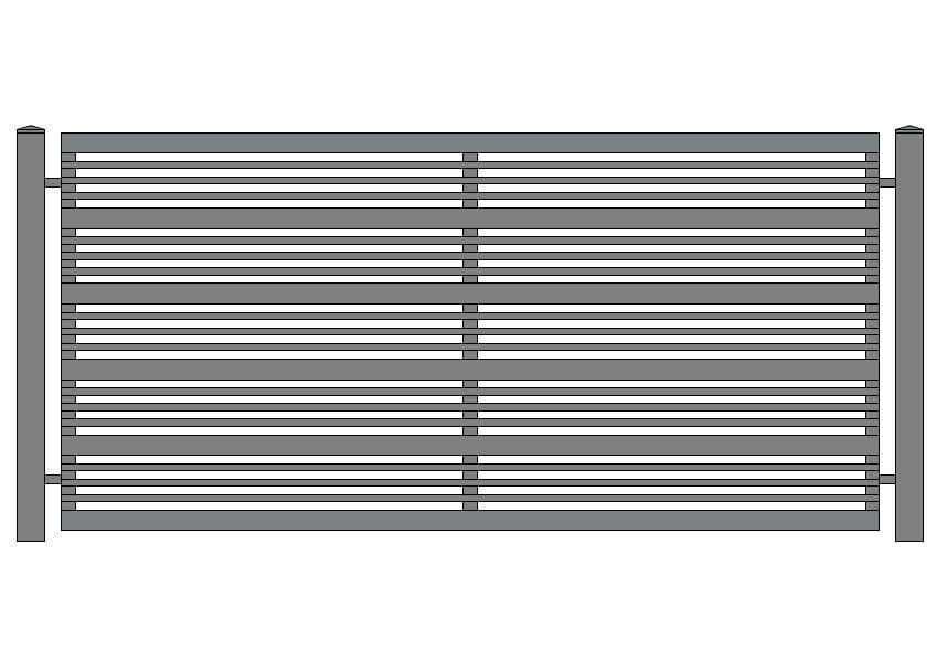 wzór ogrodzeń nowoczesnych N-11