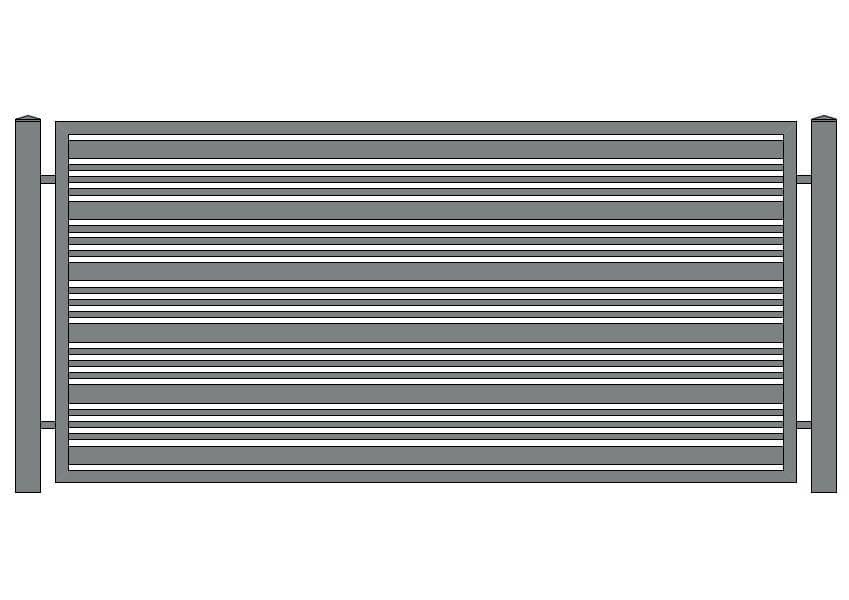 wzór ogrodzeń nowoczesnych N-12