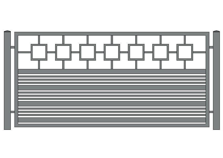 wzór ogrodzeń nowoczesnych N-16