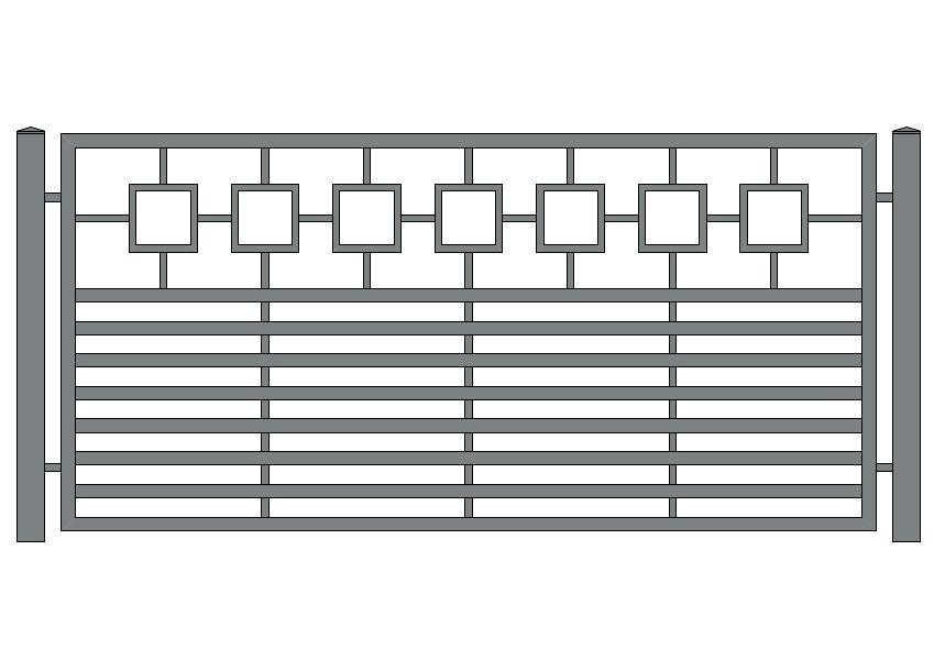 wzór ogrodzeń nowoczesnych N-17