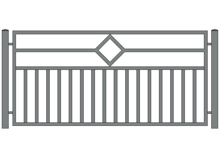 wzór ogrodzeń nowoczesnych N-18