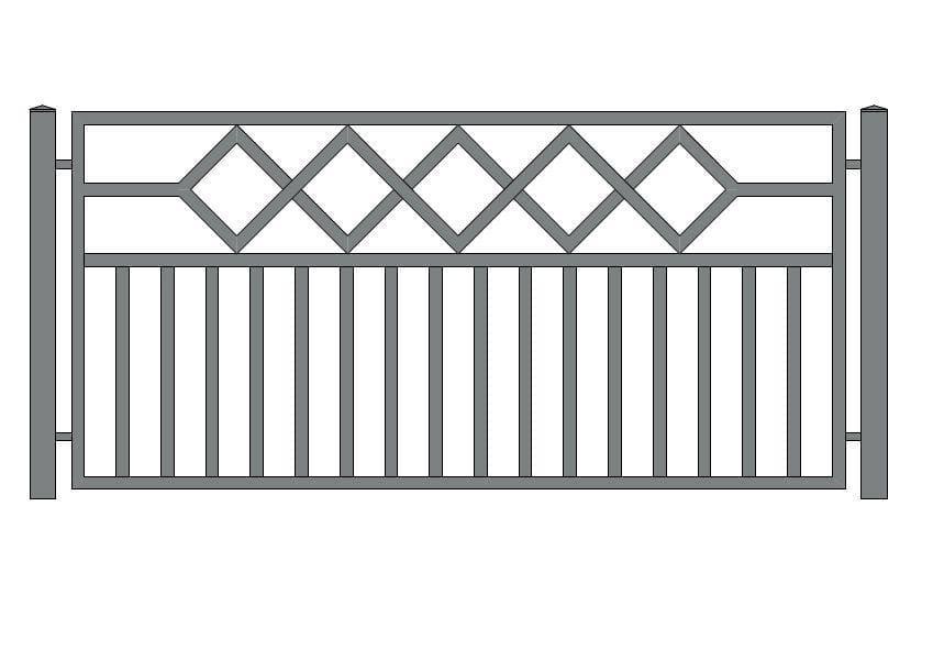 wzór ogrodzeń nowoczesnych N-19