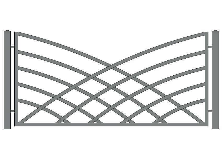 wzór ogrodzeń nowoczesnych N-20