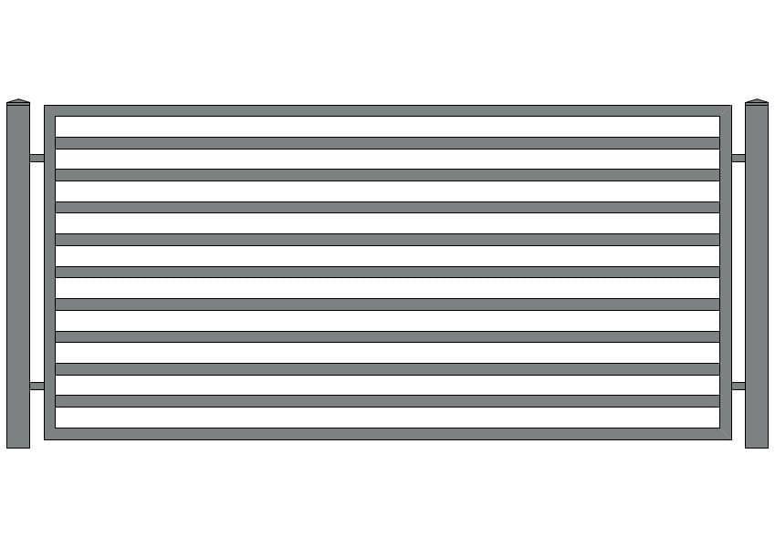 wzór ogrodzeń nowoczesnych N-2