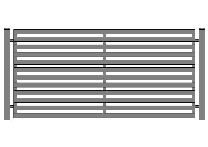 wzór ogrodzeń nowoczesnych N-3