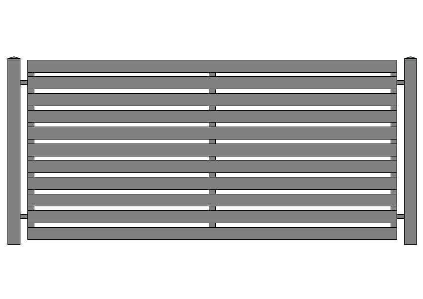 wzór ogrodzeń nowoczesnych N-5
