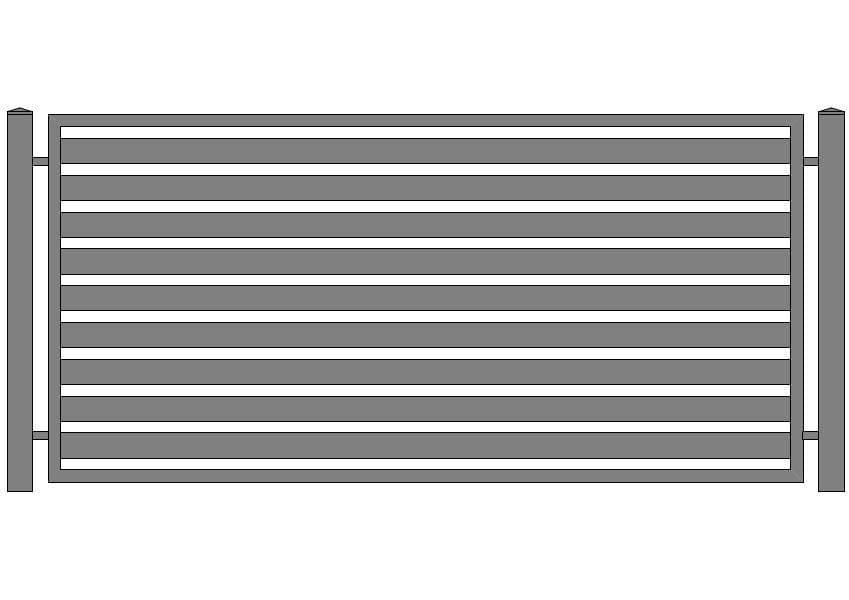 wzór ogrodzeń nowoczesnych N-6