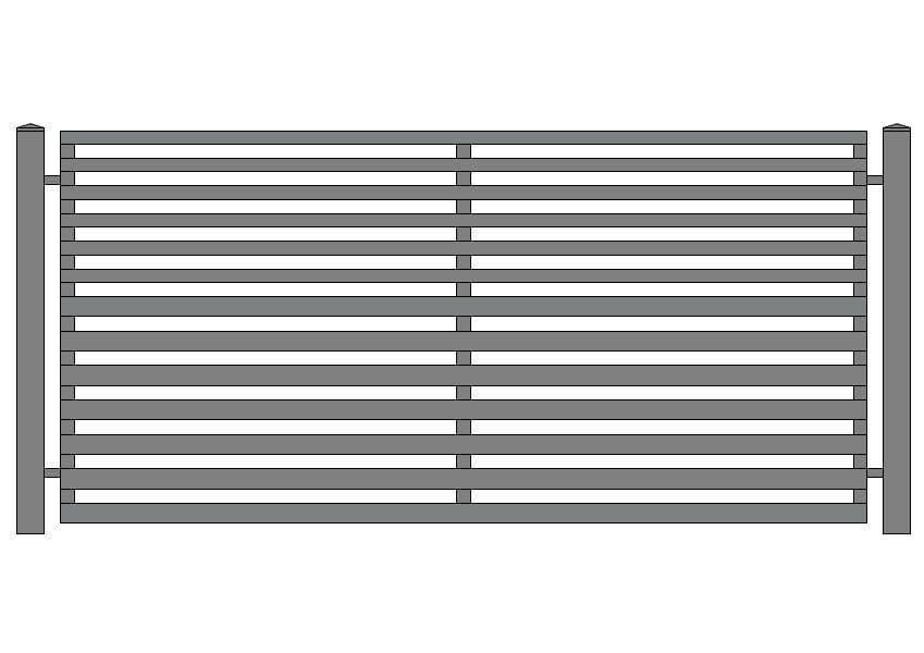 wzór ogrodzeń nowoczesnych N-7