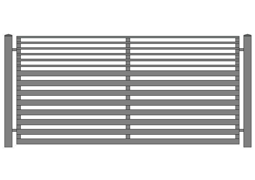 wzór ogrodzeń nowoczesnych N-9