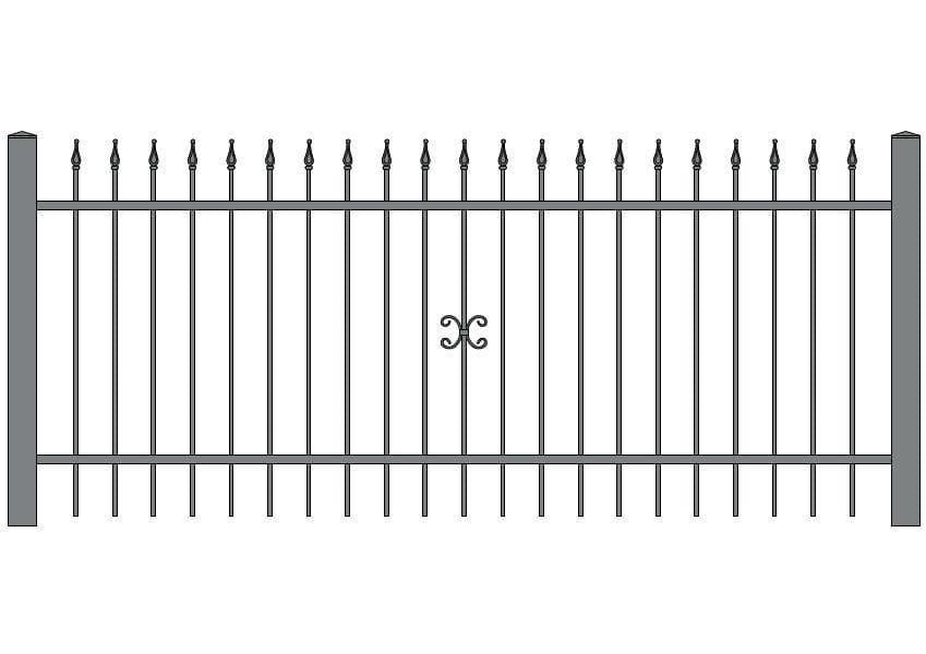 wzór ogrodzeń ozdobnych O-1