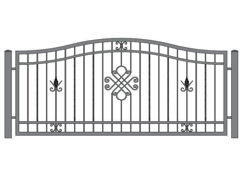 wzór ogrodzeń ozdobnych O-10