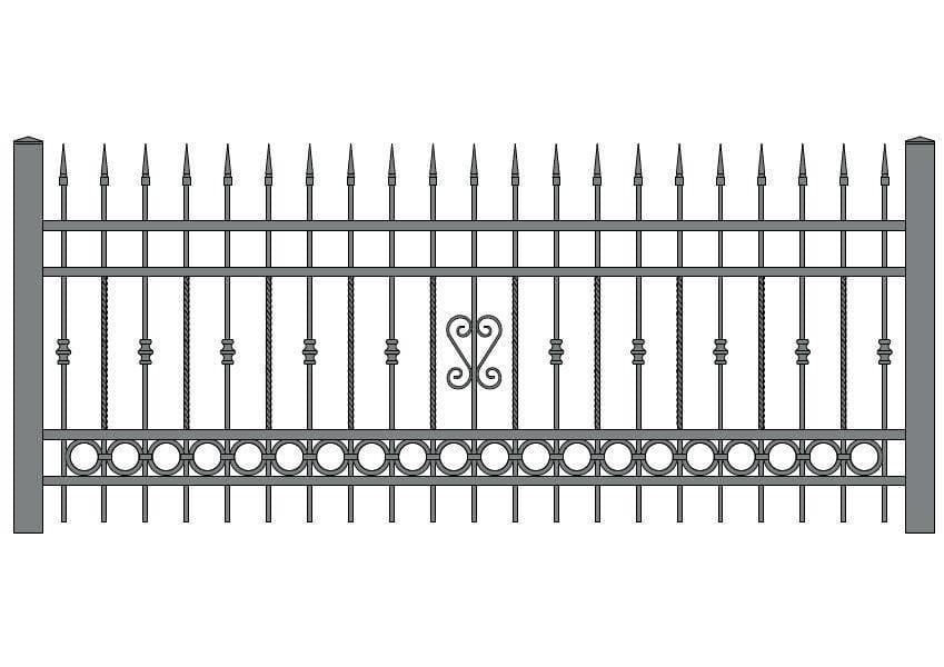 wzór ogrodzeń ozdobnych O-11