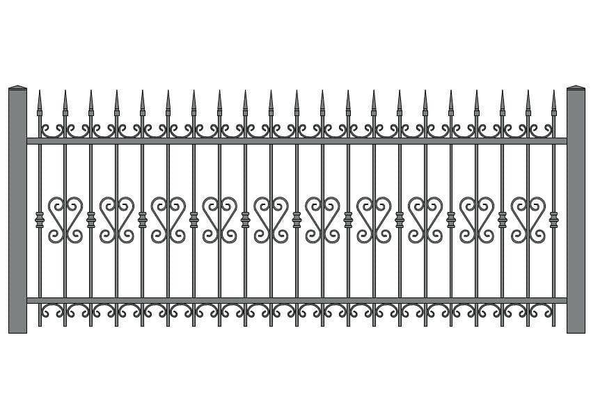 wzór ogrodzeń ozdobnych O-12
