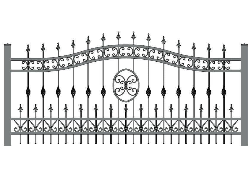 wzór ogrodzeń ozdobnych O-13