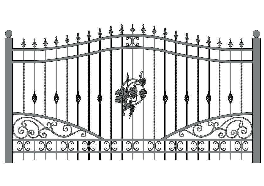 wzór ogrodzeń ozdobnych O-14
