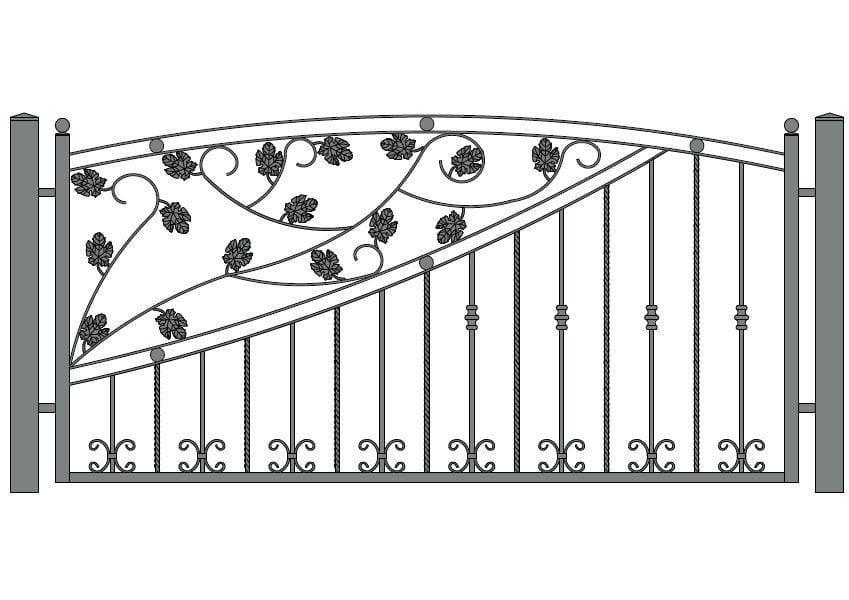 wzór ogrodzeń ozdobnych O-15