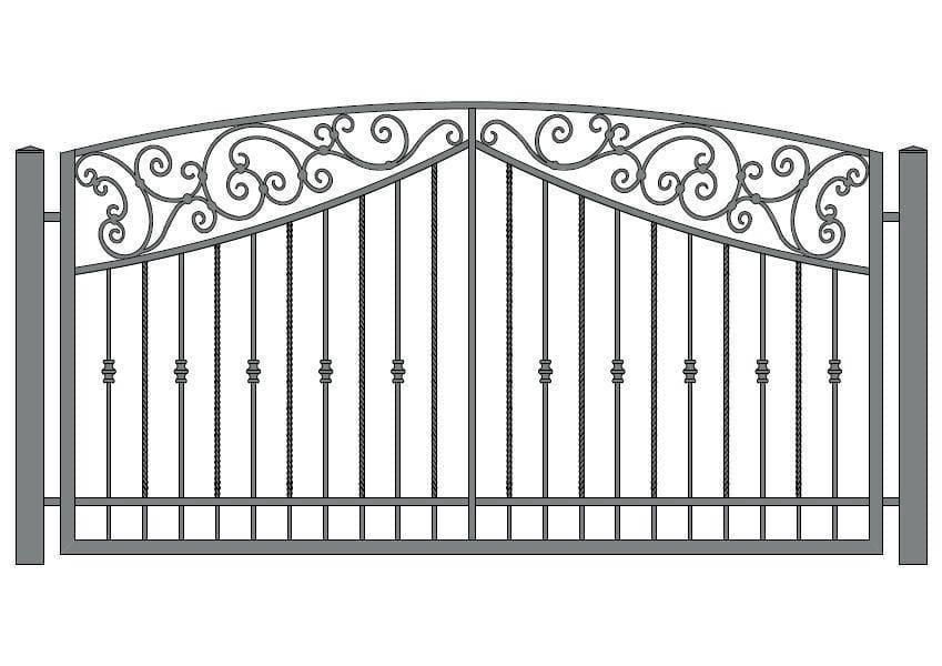 wzór ogrodzeń ozdobnych O-16