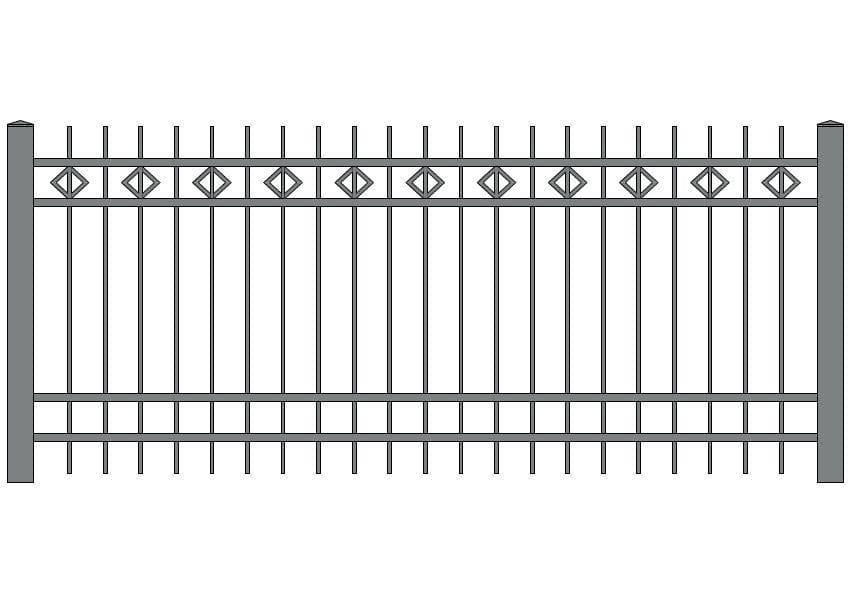 wzór ogrodzeń ozdobnych O-2