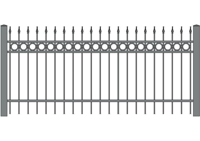 wzór ogrodzeń ozdobnych O-3