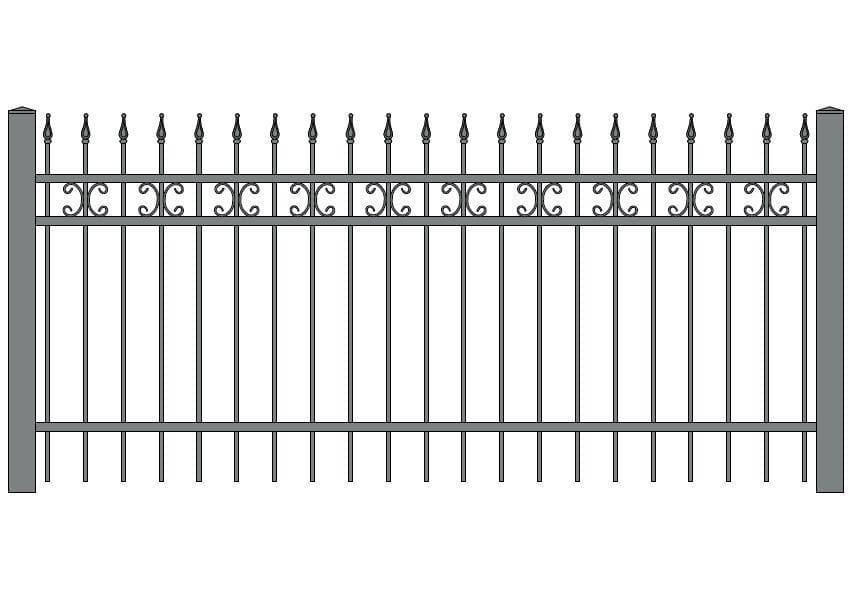 wzór ogrodzeń ozdobnych O-4