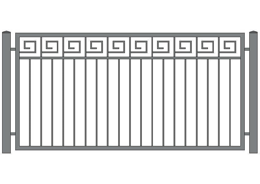 wzór ogrodzeń ozdobnych O-5