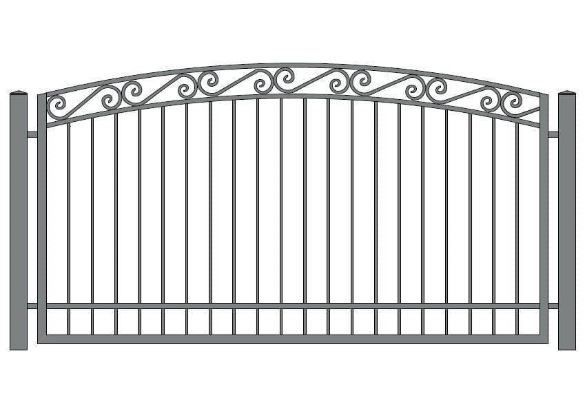 wzór ogrodzeń ozdobnych O-6