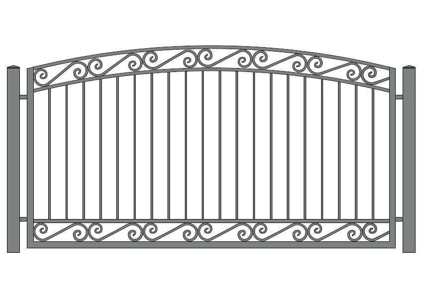 wzór ogrodzeń ozdobnych O-7
