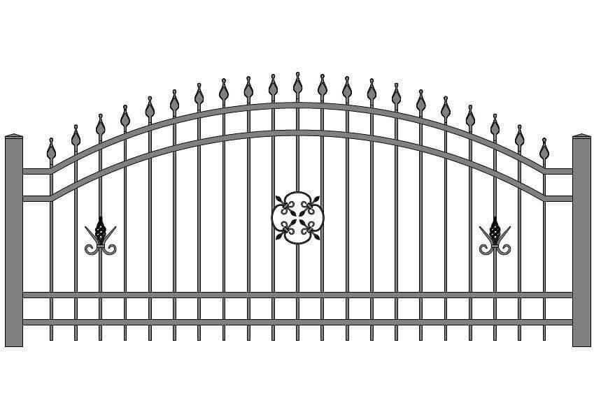 wzór ogrodzeń ozdobnych O-8