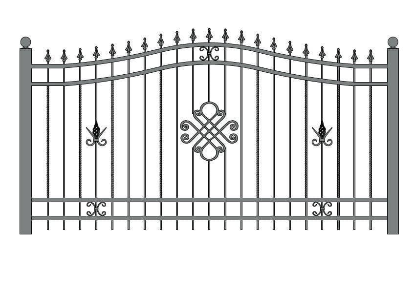 wzór ogrodzeń ozdobnych O-9