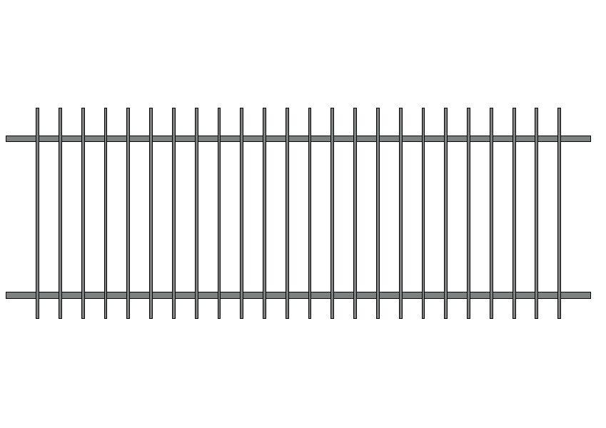 ogrodzenie proste