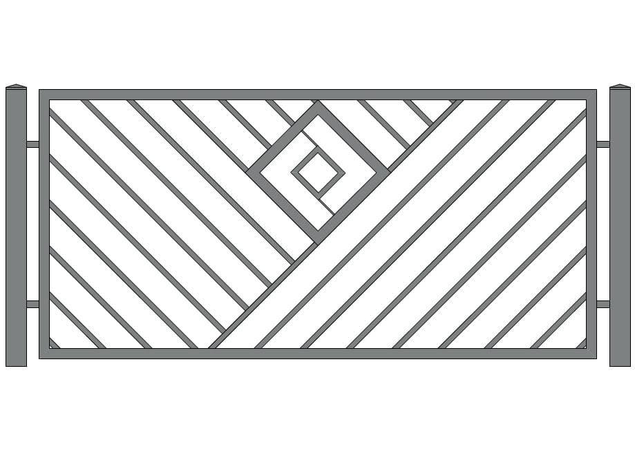 wzór nowoczesnego ogrodzenia n-21