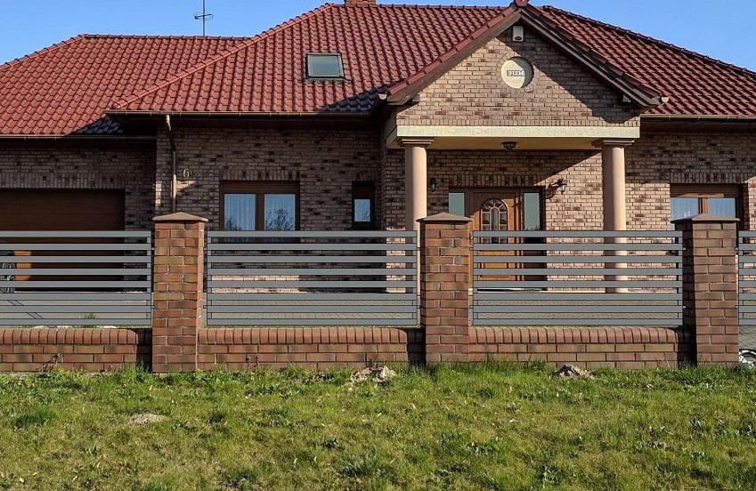 wizualizacja ogrodzenia domu jednorodzinnego